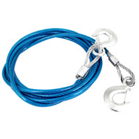 Wholesale 4M Long mm Dia Tons Vehicle Car Van Steel Towing Cable Tow Rope Snatch Strap