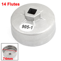 Wholesale 74mm Inner Dia Metal Oil Filter Cap Cup Wrench Flutes Repair Tool for Polo