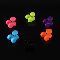 ear piercing studs - 6 Pair Acrylic Fake Cheater Ear Stud Plug Earrings Piercing