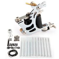 Other Professional Kit  New Pro Complete Tattoo Kit 1 Machine Gun Supply Handle Needle Set Equipment