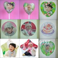 Wholesale Personalized Photo Print Balloons DIY kit cm A4 paper diy inkjet balloon per bag within stick