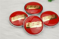 bbs - Fast shipping mm inch BBS Wheel Hub Cap Badge Sticker BBS Center Cap Carbon Fible red gold Word