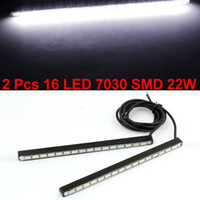 Wholesale Pair LED White SMD DRL Driving Daytime Running Lamp Light W for Car