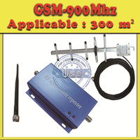 Wholesale GSM Mobile Signal Boosters Repeater Amplifier Mhz Cell Phone Signal Receivers Enhancers Yagi antenna DBI m cable
