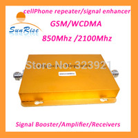 Wholesale GSM WCDMA G cell phone repeater dual band booster Mhz Mhz mobile phone signal booster repeater amplifier