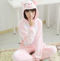 adult onesies - Pink pig onesies Pyjamas Cartoon Animal Cosplay Costume Pajamas adult Onesies Sleepwear Christmas Gift Free Shiping