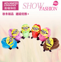 Wholesale Winter Warm Women Home Shoes Indoor Slippers House Boots D Despicable Me Shoes Plush Toy Slipper One Size Doll