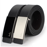 Wholesale Hot Sell Fashion Men Belts Low Price PU Leather New Classic Design Casual Belt Strap Smooth Buckle BT