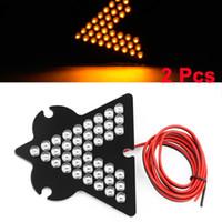 Cheap 2 Pcs Yellow 33 LED Arrow Panel Car Side Mirror Turn Signal Lamp Light