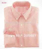 Wholesale Top quality famous brand men s long sleeve Plaid shirt cotton polyester
