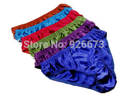 Wholesale 8 Pairs Men's 100% Silk Briefs Underwear Bikinis Panties Size L XL XXL(W27