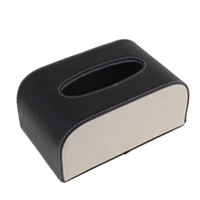 Wholesale Portable Black Faux Leather Rectangular Tissue Box Holder Case cm x cm