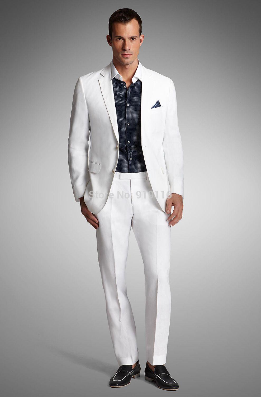 Men'S Wear Formal Tuxedo White Notch Lapel Prom Suits /Wedding ...