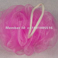 Wholesale gram color pink high quality PE mesh baby bath puff
