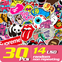 Wholesale STICKER PACK usd random non repeating bike skateboard deck notebook laptop car wall sticker bomb
