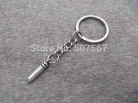 Wholesale big silver Bullet keychain charm Keychain personalized Antique steampunk jewelry Unique gift vintage gift