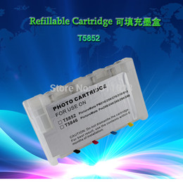 Wholesale set of T5852 Empty Chipped Refillable ink cartridge with auto reset chip chip resetter not needed