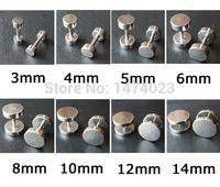 fake gauges - Body Pierceing Jewelry custom Gauge Stainless Steel flesh Cheater Illusion fake ear plug