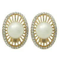 Wholesale GUST Brand New Vintage Simulated Pearl Clip Earrings Women Crystal Earrings Wedding Accessories Dress Dinner Girl E170