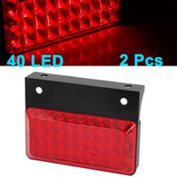 auto led tail lamp - 2 Rectangle Red LED Stopping Signal Turn Tail Light Lamp for Auto Car
