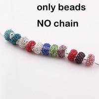shamballa beads - Big Hole Crystal beads Shamballa Disco Ball Beads Drill Rhinestone Beads fit pandora bracelet DIY Jewelry JJAL BE313