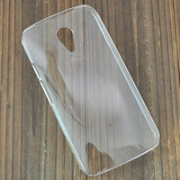 Cheap Crystal Transparent Back Protector hard Case skin cover For Moto G2 XT1068 support diy 20pcs lot Free Shipping