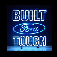 Yellow beer glass new - NEW FOR FORD BUILT TOUGH neon sign store display beer bar Real GLASS TUBE HANG WALL quot