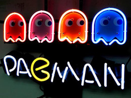 Wholesale PACMAN GAME BEER BAR NEON LIGHT SIGN neon sign store display beer bar sign Real Neon quot