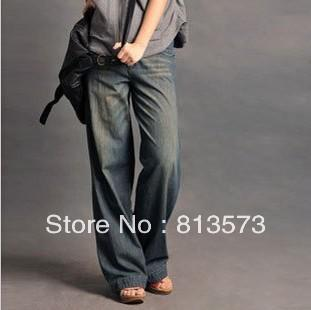 Wholesale-2015 New Arrival Loose Jeans Woman Pants Wide Leg Women ...