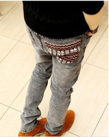 Wholesale National male casual trend slim trousers men s clothing skinny jeans pants