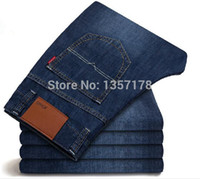 cotton jeans - N01 men denim jeans retail man brand pants Casual Zipper men s fly Straight Cotton Mens Jeans Comfortable fit trousers for