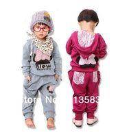 Wholesale New fashion girls clothing Set Baby Kids Lace Minnie Sports Suit Children Hoodie Harem Pants Garment Baby Clothe set