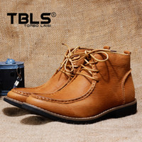 Cheap Winter genuine leather High Quality men boots casual Free shipping 2014 new brand shoes men british style fashion tidal current boots 6271