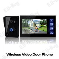 Wholesale 7 quot TFT LCD G Wireless Video Door Phone Doorbell Intercom System Night Vision Waterproof Camera