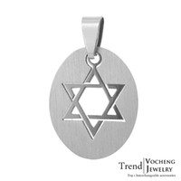 Wholesale Stainless Steel Hexagram Slide Charms Pendant Accessories for Jewelry Interchangeable DIY Accessories VP
