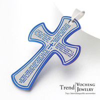 Wholesale Stainless Steel Cross Charms Embellishments Jewelry Findings Interchangeable DIY Accessories VP