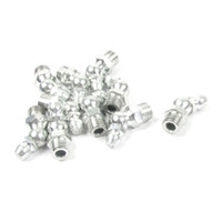 Wholesale 10 mm Male Thread Degree Silver Tone Hydraulic Grease Nipples Fittings