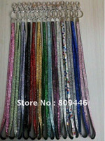 Wholesale X Free cm Bling Bling Lanyard Crystal Rhinestone in neck with claw clasp ID Badge Holder for For Mobile Cell phone Camera