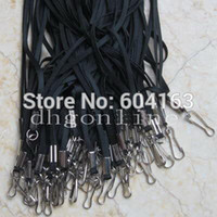 Wholesale Neck Lanyard ID Card Badge Holder Strap for Reel RETRACTABLE YOYO MMM Black