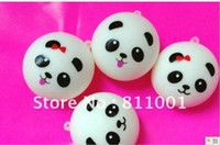 Wholesale ship within hour Jumbo Kawaii Squishy Panda Dim Sum Bun Squishies Cell Phone Straps Squishy Bag Charm Gift