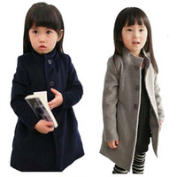 Wholesale Children Girl s Trench Coats Spring Winter New Outwear For Girls Kids Casual Warm Thick Jackets With Wool lining