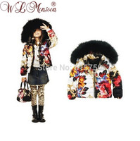Wholesale Hot Sale new children down coat brand girls winter hooded padded jackets designer kids feather outerwear girl parkas Y
