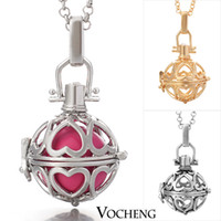 Cheap Maternity Jewelry 3colors Copper Matal Pendants With Angel ball in Chain Necklaces (VA-020)
