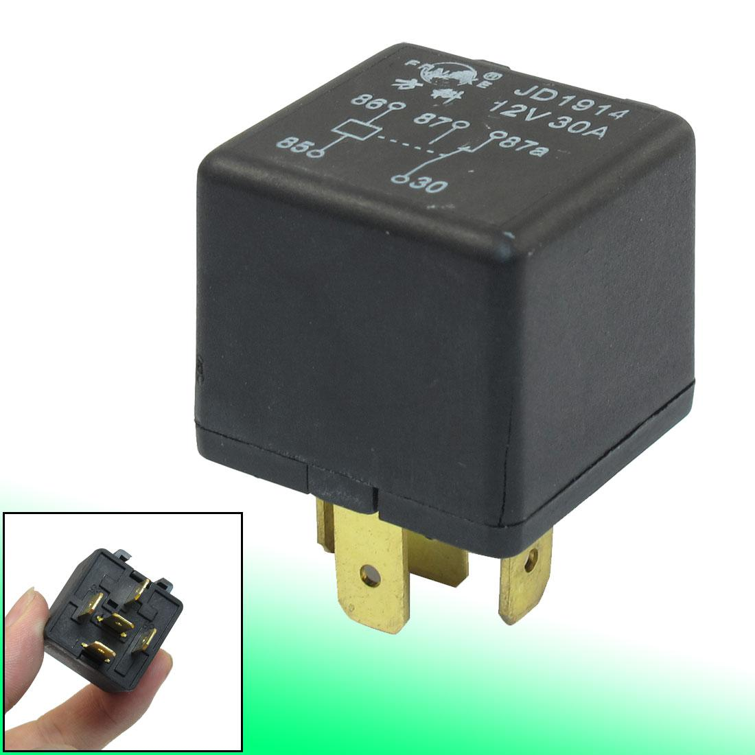 Alarm Car Relay Switch Power  Pin Spdt No Nc Mm Rail - Relay com no nc