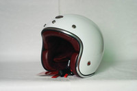 Wholesale Glass fiber reinforced plastic helmet Beon New Vintage Jet motorcycle helmet sheep leather lining white
