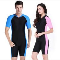 diving equipment - 2015 NEW Suit Dive Skins for Men or Women Jump Suit Wetsuit Swimwear Short Sleeve Diving Equipment