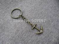 Wholesale big Anchor Keychain Anchor Keychain Anchor Keychain Metal Key Chain Mens Gift Friendship Gift