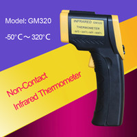 Wholesale Infrared thermometer Electronic Non Contact Infrared Laser LCD Display Digital Termometer Thermostat Termometro Temperature Meter