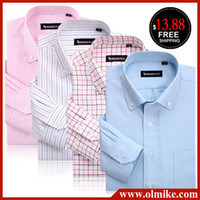 Wholesale Hot selling male clothes Oxford cloth Casual long sleeve shirt Mens Business shirt High Quality Men s dress shirt S XL