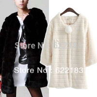 Wholesale Black White China Cheap Clothes Autumn Winter Lady Faux Fur Fur Coat Women Warm Desigual Singel Breasted Outwear